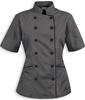 Tailored Chef Coat Pebble Grey w/Black