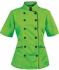 Tailored Chef Coat - Apple Green w/Black