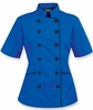 Tailored Chef Coat Ocean Blue w/Black