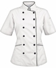 Women's Tailored Chef Coat - White