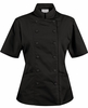 Women's Tailored Black Chef Coat