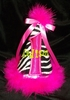 Zebra/Hot Pink Birthday Hat