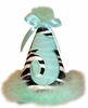 Zebra and Mint Green Party Hat