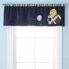 """Playball"" Nursery Window Valance"