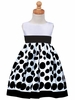 White Flocked Polkadot  Holiday Dress