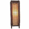 "Stained Rattan 24"" High Table Lamp"