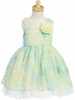 Green Ruffled Tulle Dress