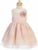 Peach Ruffled Tulle Dress