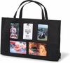 Black Photo Tote Diaper Bag