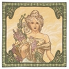 Mucha Spring Tapestry Cushion Cover