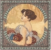 Mucha Summer II Tapestry Cushion Cover