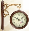 Vintage Style Double-sided Clock