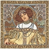 Mucha Autumn Tapestry Cushion Cover