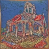 Church of Auvers Tapestry Cushion Cover