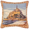 Mont Saint-Michel Tapestry Cushion Cover