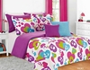 Girl's Rainbow Hearts Bed Set