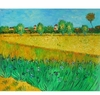 Wheatfield with Irises Canvas Art
