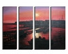 Sunset Seaport Canvas Art