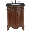 "Black Granite Top 26"" Bathroom  Vanity"