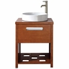 "33"" High Chestnut Sink Bathroom Vanity"