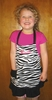 Personalized Zebra Print Child's Apron