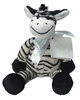 Baby's Plush Zebra Rattle