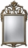 "31"" High Antique Silver & Gold Wall Mirror"