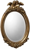 "Bronville 23"" High Gold Leaf Wall Mirror"