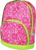 Quilted Backpack - Hot Pink Paisley