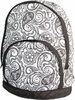 Kid's Quilted Backpack - Black Paisley