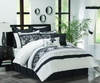 MC Black/White 24-pc Luxury Bed Ensemble