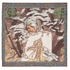 Mucha Winter Tapestry Cushion Cover