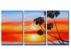 Palm Tree Sunrise Canvas Art