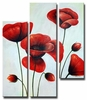 Ruby Red Poppies Canvas Art