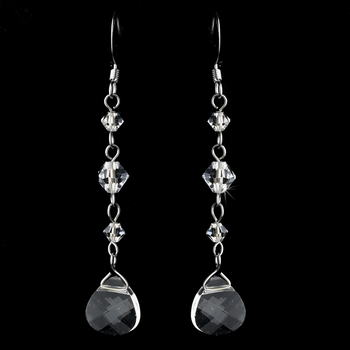 * Earrings 8270 Silver Clear