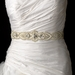 Embroidered Faux Pearl & Silver Beaded Bridal Wedding Sash Belt with Rhinestones 14