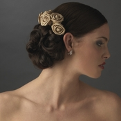 Charming Chocolate Flower Bridal Hair Comb 4647