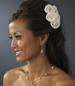 Charming Gold Flower Bridal Hair Comb 4647