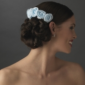 Charming Light Blue Flower Bridal Hair Comb 4647
