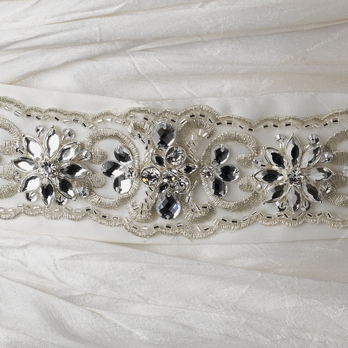 Bridal Floral Crystal Sash Belt 252