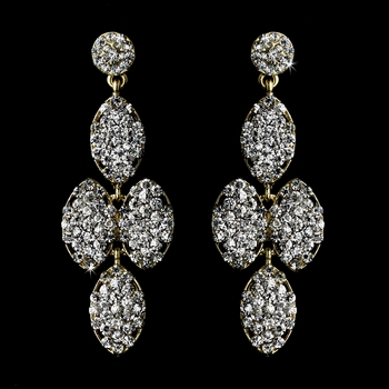 * Gold Clear Earring Set 8541