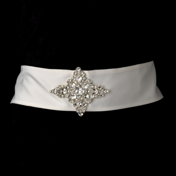 * Pearl & Rhinestone Wedding Sash Bridal Belt 5