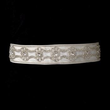 * Rhinestone & Beaded Wedding Sash Bridal Belt  7