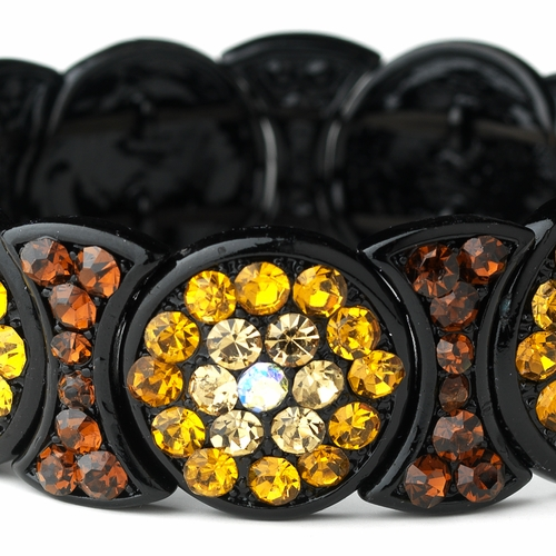 * Luminescent Topaz Crystal Fashion Bracelet 8539