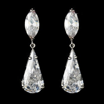 * E 5806 Celebrity Style Cubic Zirconia Earrings