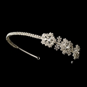 * Silver Headpiece Headband 609