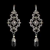 Silver Clear w/ AB Accent Earrings 1046
