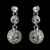 Silver Clear Swarovski Crystal Earring Set 1263