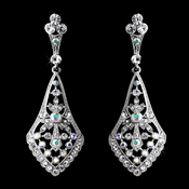 Silver Clear AB Earrings 8461