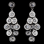 Flirty Silver Clear Crystal Chandelier Earrings 8593